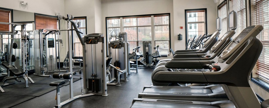 Fitness center with cardio equipment and weight lifting machines