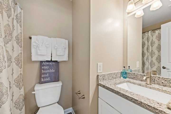 bathroom with neutral colors. Click to view the full size image.