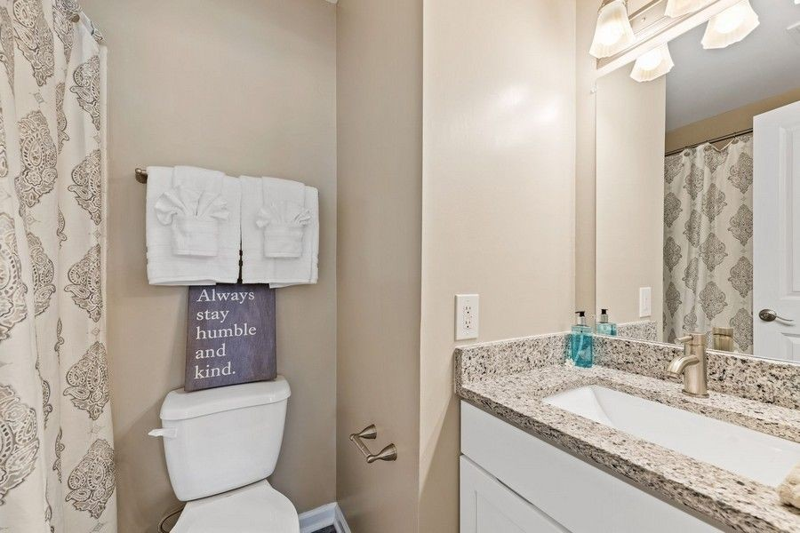 bathroom with neutral colors