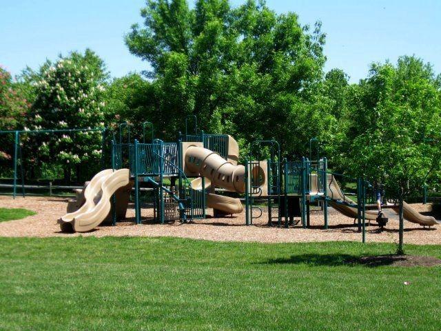 playground next to grassy area