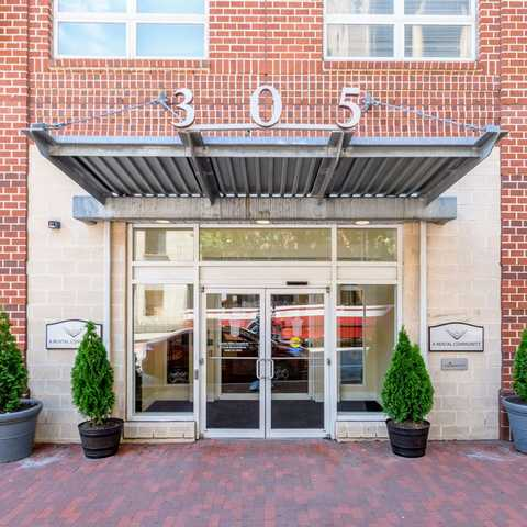 Outside view of leasing office. Click to view the full size image.