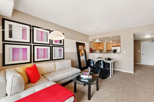Apartment living room with seating. Click to view the photo gallery.