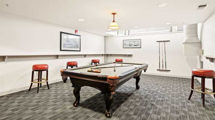 Game room with pool table. Click to view the full size image.