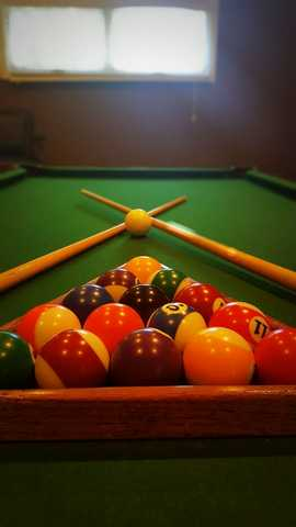 close up view of pool table. Click to view the full size image.