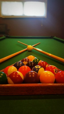 close up view of pool table. Click to view the photo gallery.