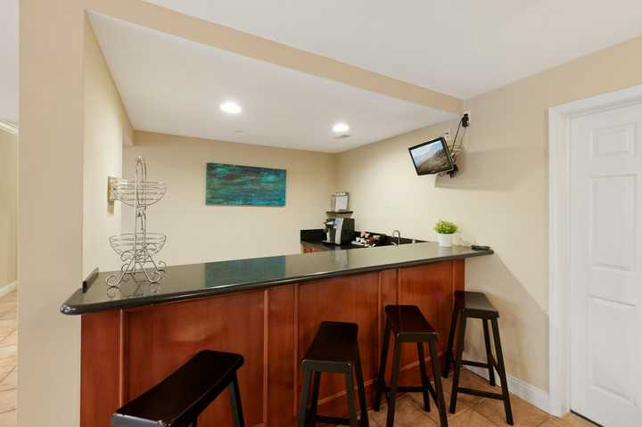 Coffee bar and barstools. Click to view the full size image.