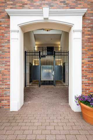Gated entrance to apartment building. Click to view the full size image.