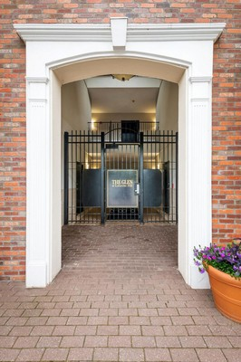 Gated entrance to apartment building. Click to view the photo gallery.