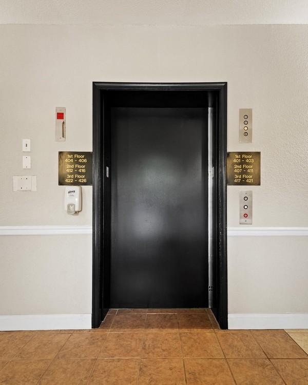 Elevator in apartment building