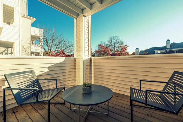 Private patio with seating. Click to view the photo gallery.