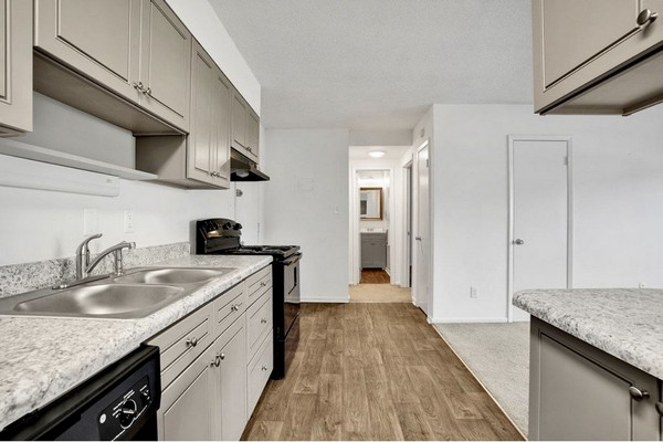 1 Bedroom Kitchen View. Click to view the photo gallery.