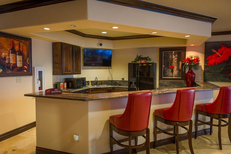 Bar area in resident clubhouse