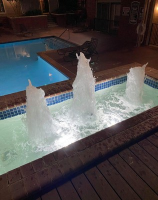 Water fountain at night. Click to view the photo gallery.