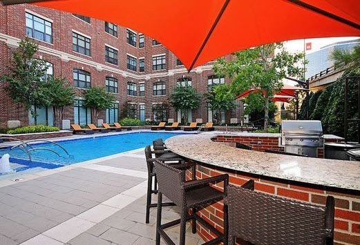 outdoor grilling and picnic area on the pool deck. Click to view the photo gallery.