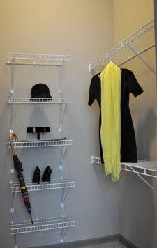walk-in closet with custom shelving