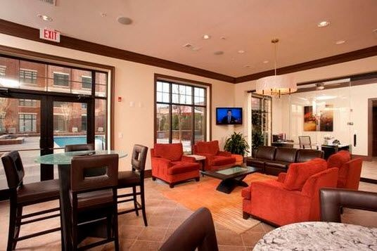 resident lounge area with TV