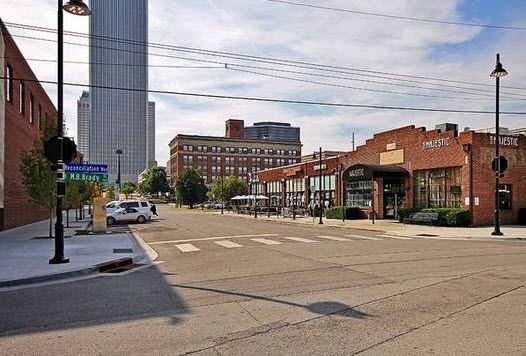view of Downtown Tulsa's Brady St.