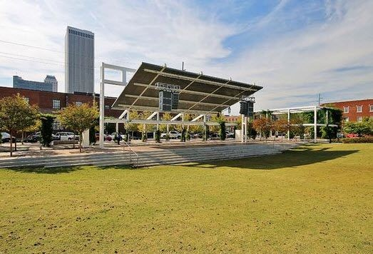 Guthrie Green's stage and green space