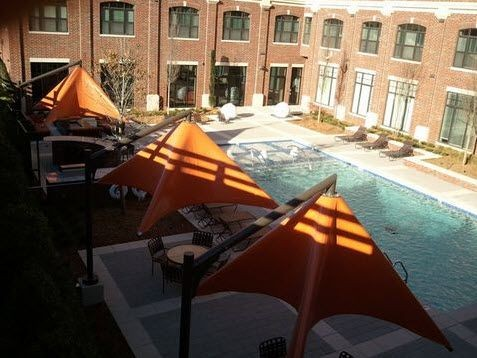 aerial view of pool deck. Click to view the photo gallery.
