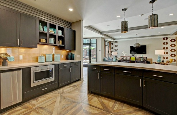 Kitchen in resident clubhouse. Click to view the photo gallery.