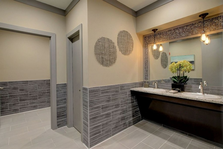 Bathroom in resident clubhouse