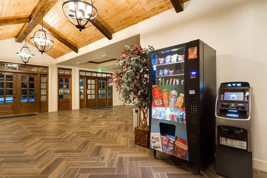 Vending machine and ATM in clubhouse