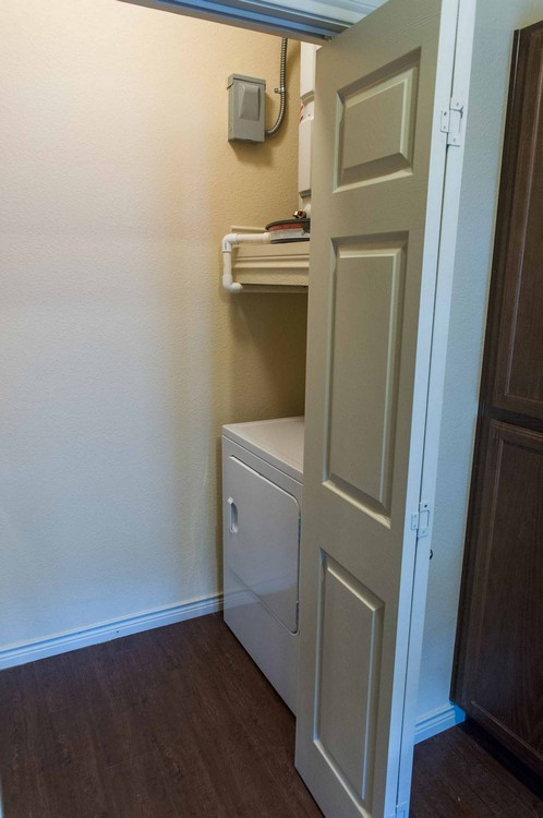 Laundry room in apartment