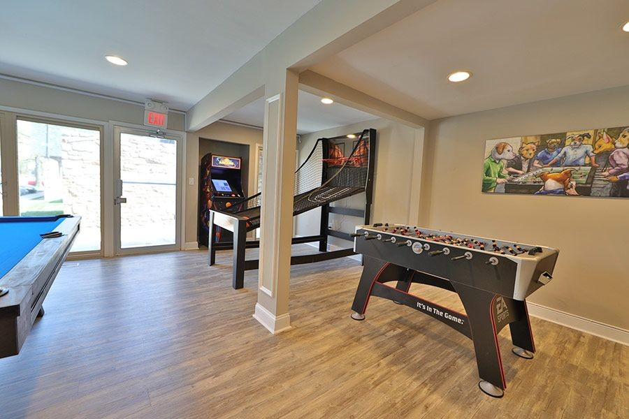 Community game room with arcade games