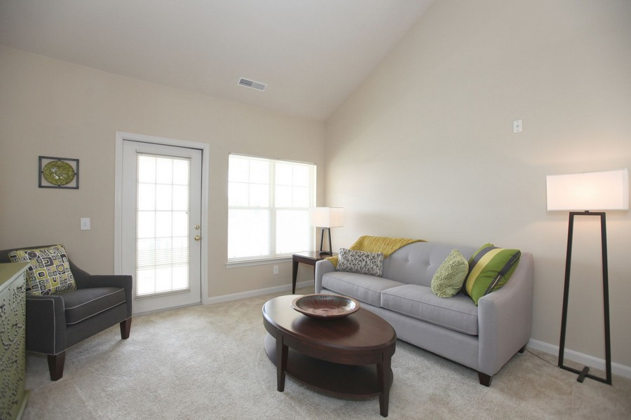 Apartment living room with seating