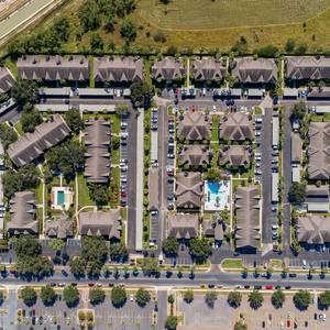 View of property from directly overhead. Click for photo gallery.