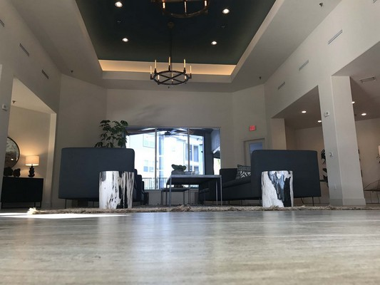 Clubhouse lobby from ground level. Click to view the photo gallery.
