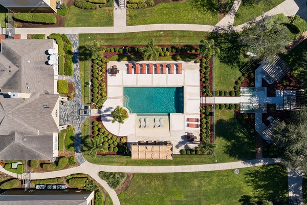 Swimming pool with lounge chairs and tanning deck. Click to view the photo gallery.