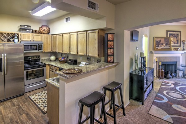 Apartment kitchen. Click to view the photo gallery.