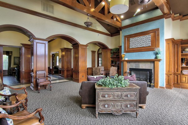 Resident clubhouse with seating. Click to view the photo gallery.