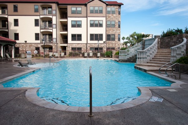 Swimming pool from ground level. Click to view the photo gallery.