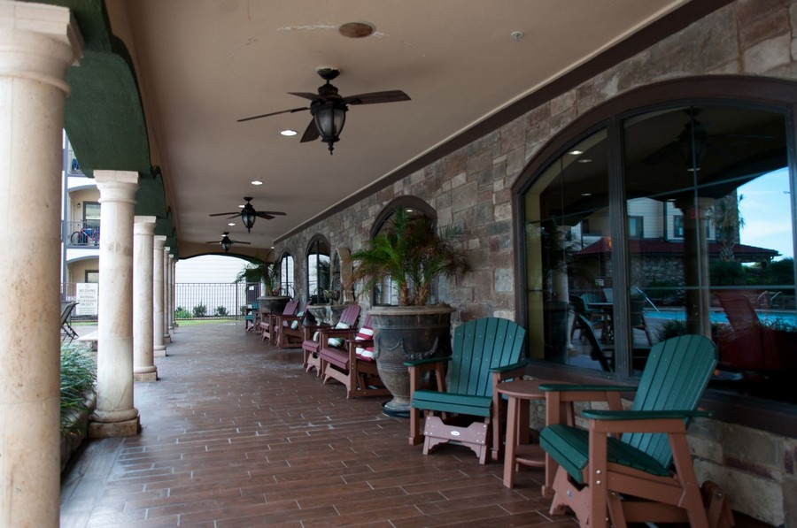 Large patio with outdoor seating