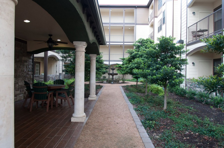 Courtyard and patio