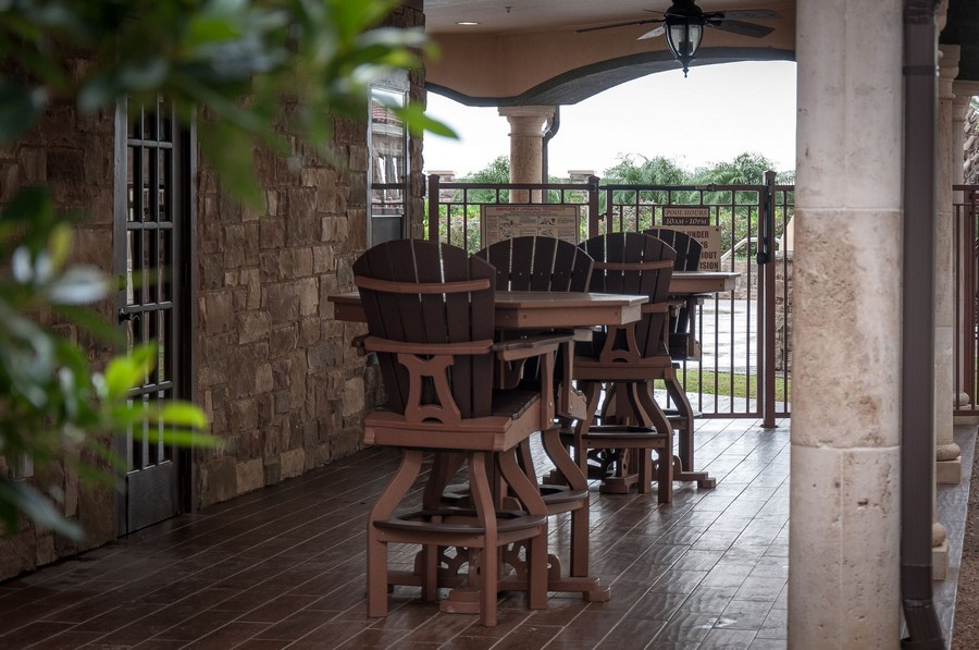 Outside patio tables and chairs