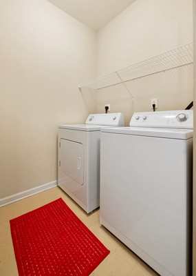 Apartment laundry room. Click to view the photo gallery.