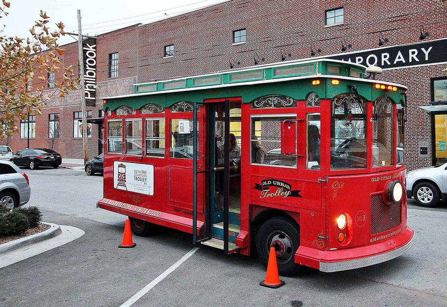 Trolley downtown