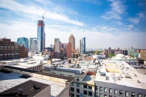 view from rooftop with Brooklyn skyline