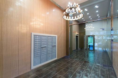 lobby with mail access