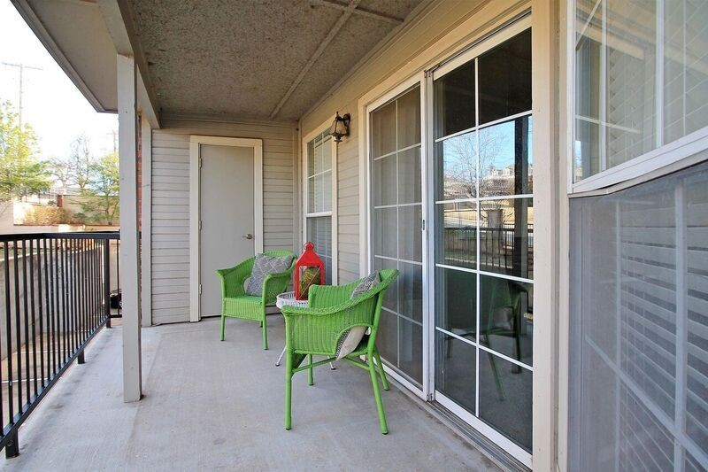 Private patio with seating