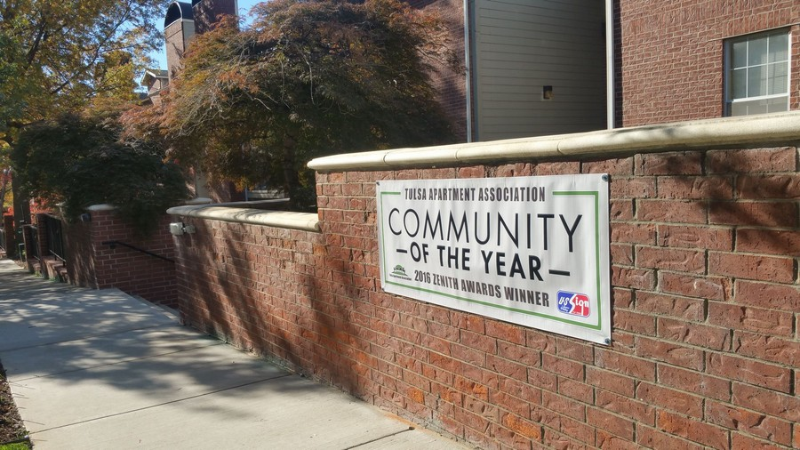 Community of the Year signage