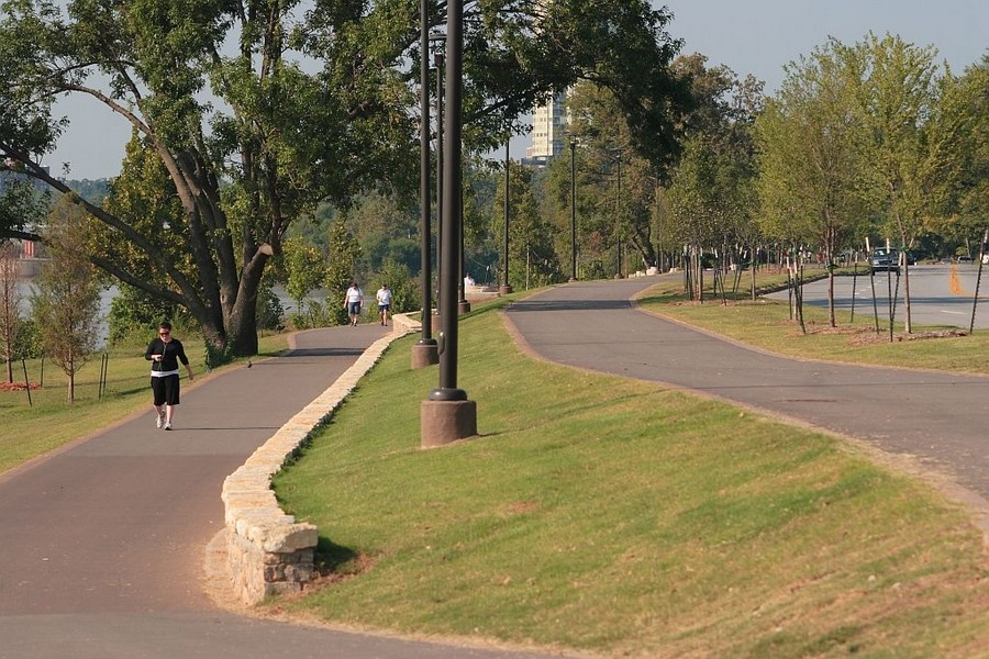 Nearby walking trail