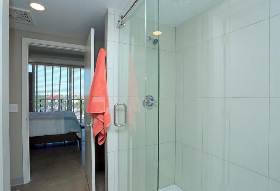 Bathroom shower and bedroom