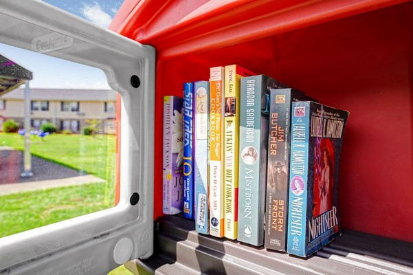 Lending library. Click to view the photo gallery.