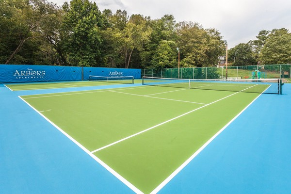 Tennis court. Click to view the photo gallery.