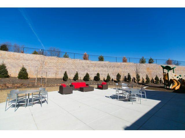 outdoor patio lounge area