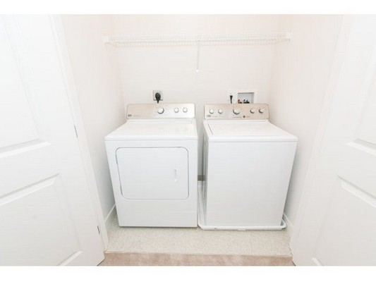 full-sized, in-unit washer and dryer